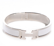 Hermes Bracelet - White/Silver