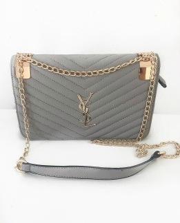 YSL Bag - Grey Striped