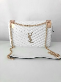 YSL Bag - White Striped