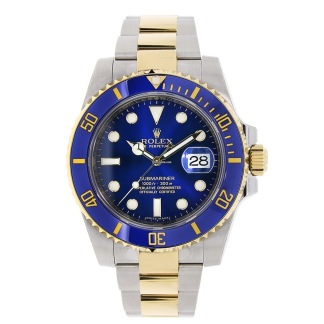 Rolex Submariner - Gold/Blue - Stainless Steel