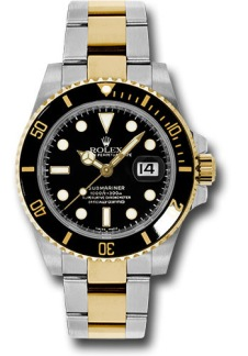 Rolex Submariner - Black/Gold - Stainless Steel