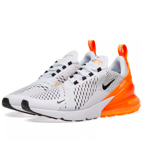 hot sales 3ac16 bf2e8 NIKE AIR MAX 270 WHITE/ORANGE | STREET OF NOVA