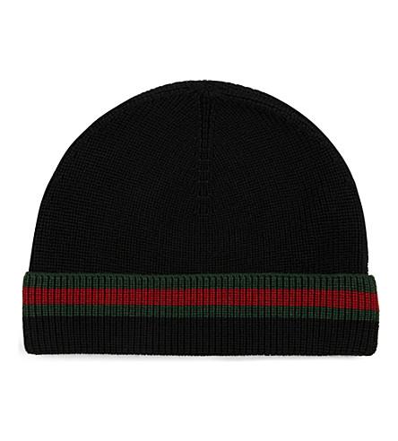 4b12547d1481 Gucci hat crook in wool - black