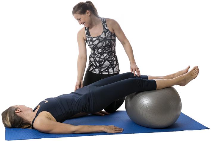 Rehabträning ledd av fysioterapeut