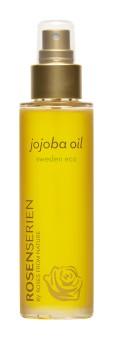 Jojoba olja är den olja som mest liknar hudens eget fett. Det är en populär olja för att tillföra fukt över hela kroppen och även håret. Kan även användas på djur som tex hundens trampdynor.