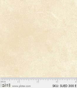 Bomullstyg beige melerat (Suede)