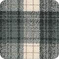 Bomullstyg grårutig flanell (Mammoth Flannel)