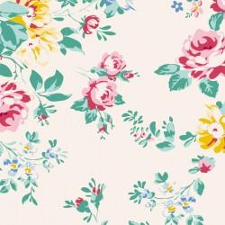 Bomullstyg blommigt (Tilda Shirly natur)