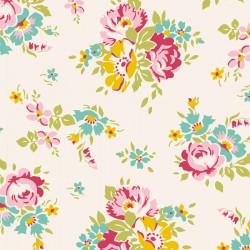 Bomullstyg blommigt (Tilda Sue natur)