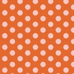 Bomullstyg prick (Tilda Dots orange)
