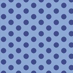 Bomullstyg blå prickar (Tilda Dots blå)