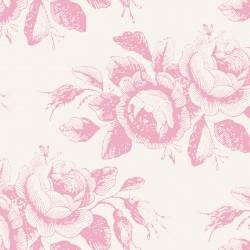Bomullstyg rosa rosor (Tilda Old Rose)