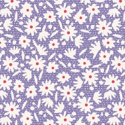 Småblommigt bomullstyg blått (Tilda Bon Voyage)