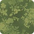 Bomullstyg grönt blommönster (Surrey Meadows)