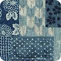 Bomullstyg Nara Homespun blå