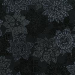 Bomullstyg svart järnek (Let It Sparkle)
