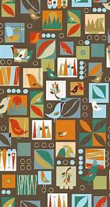 FYND! Bomullstyg abstrakta former (Urban Nature)