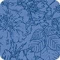 Bomullstyg blå blommor (Nature´s Notebook)