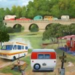 Bomullstyg husvagnar (Vintage Trailers)