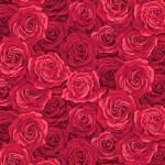 Bomullstyg röda rosor (Summer Garden)