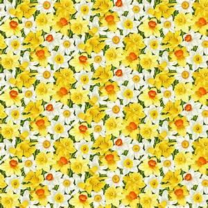 Bomullstyg narcisser (Summer Garden)
