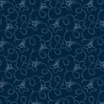Bomullstyg blå blomslinga (Makower)