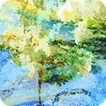 Bomullstyg Nature´s Pace blue