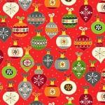 Bomullstyg Julgranskulor (Santa Express)