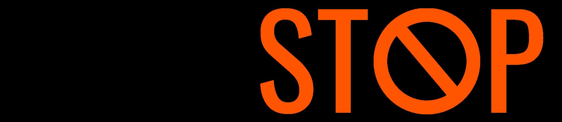 Skimstop logo svart utan trådlös