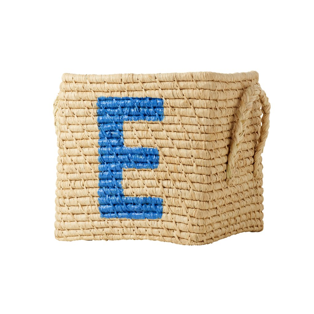 Förvaringskorg med tryckt E