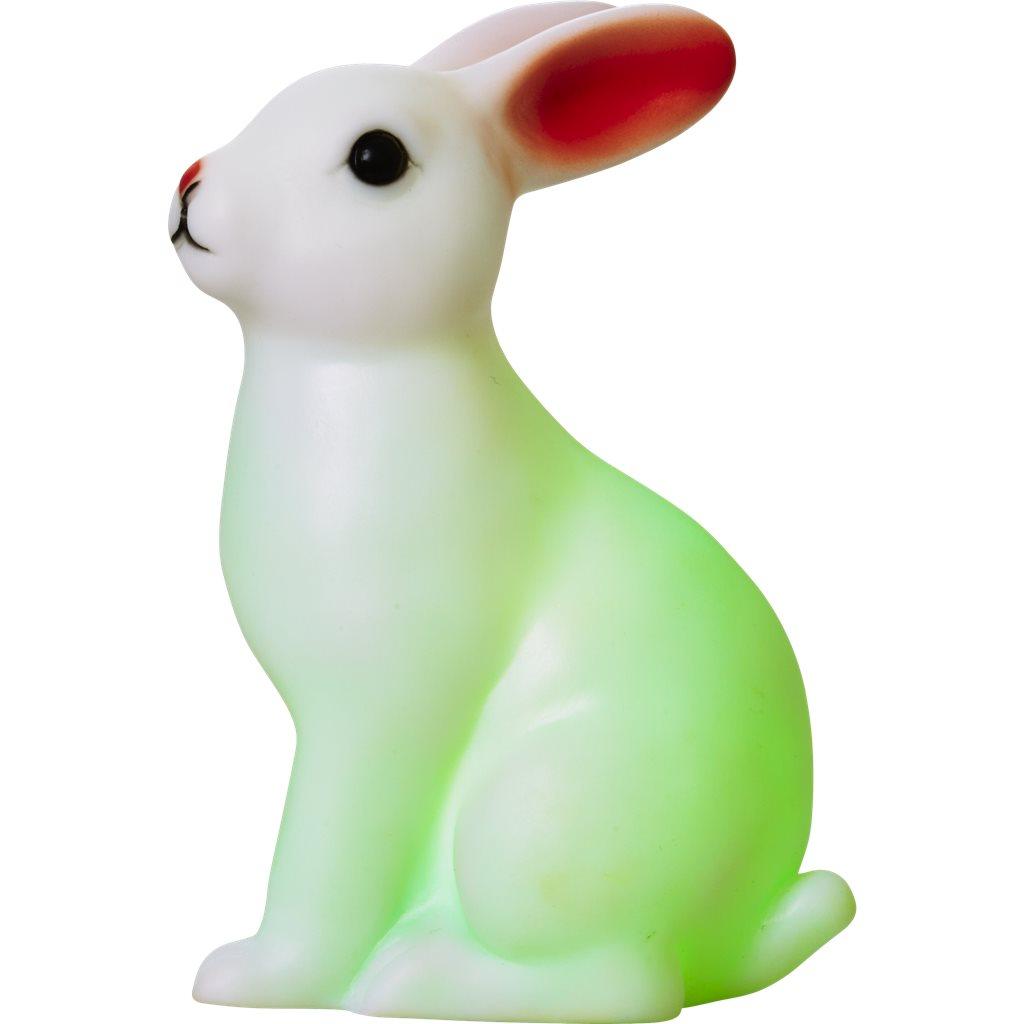Kanin som skiftar färger i grönt