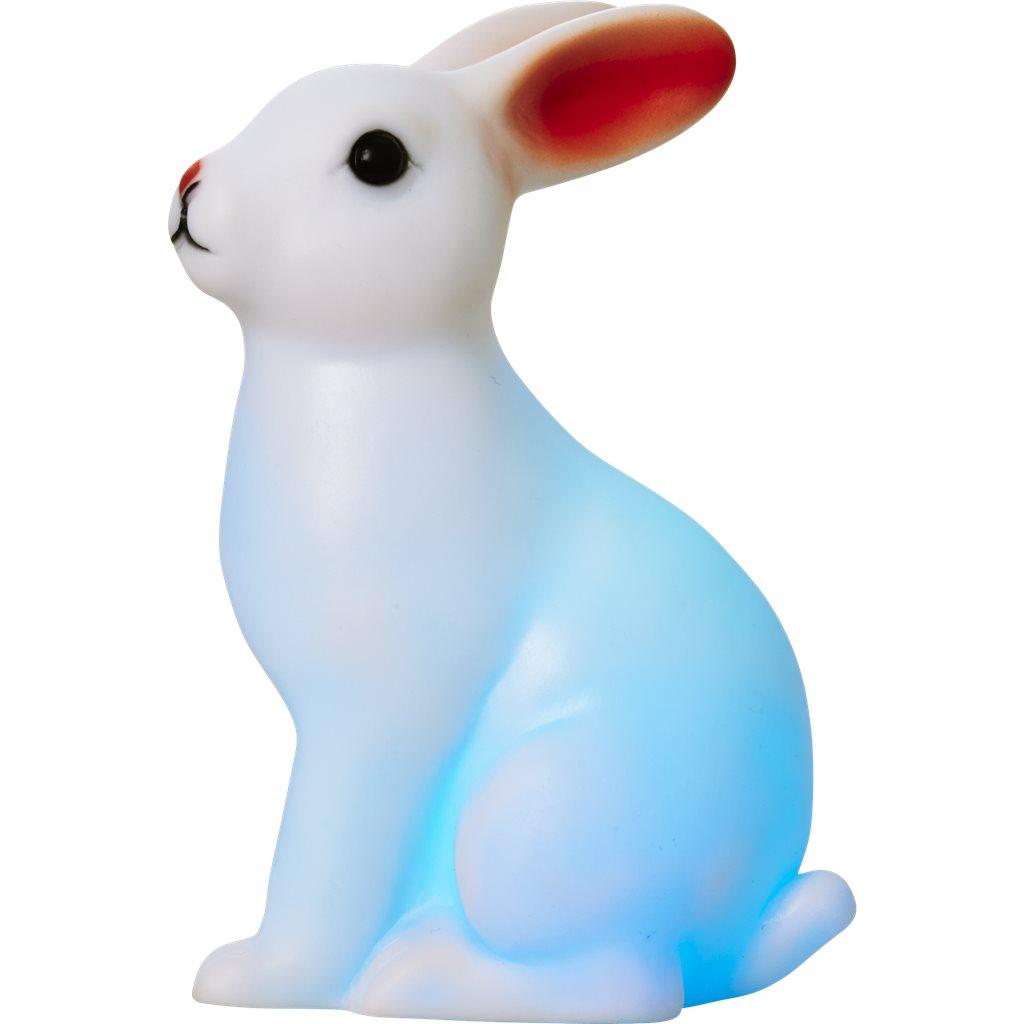 Kanin som skiftar färger i turkost