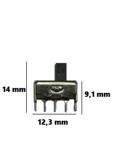 skjutströmställare 2 läges 1 pol - Skjutomkopplare
