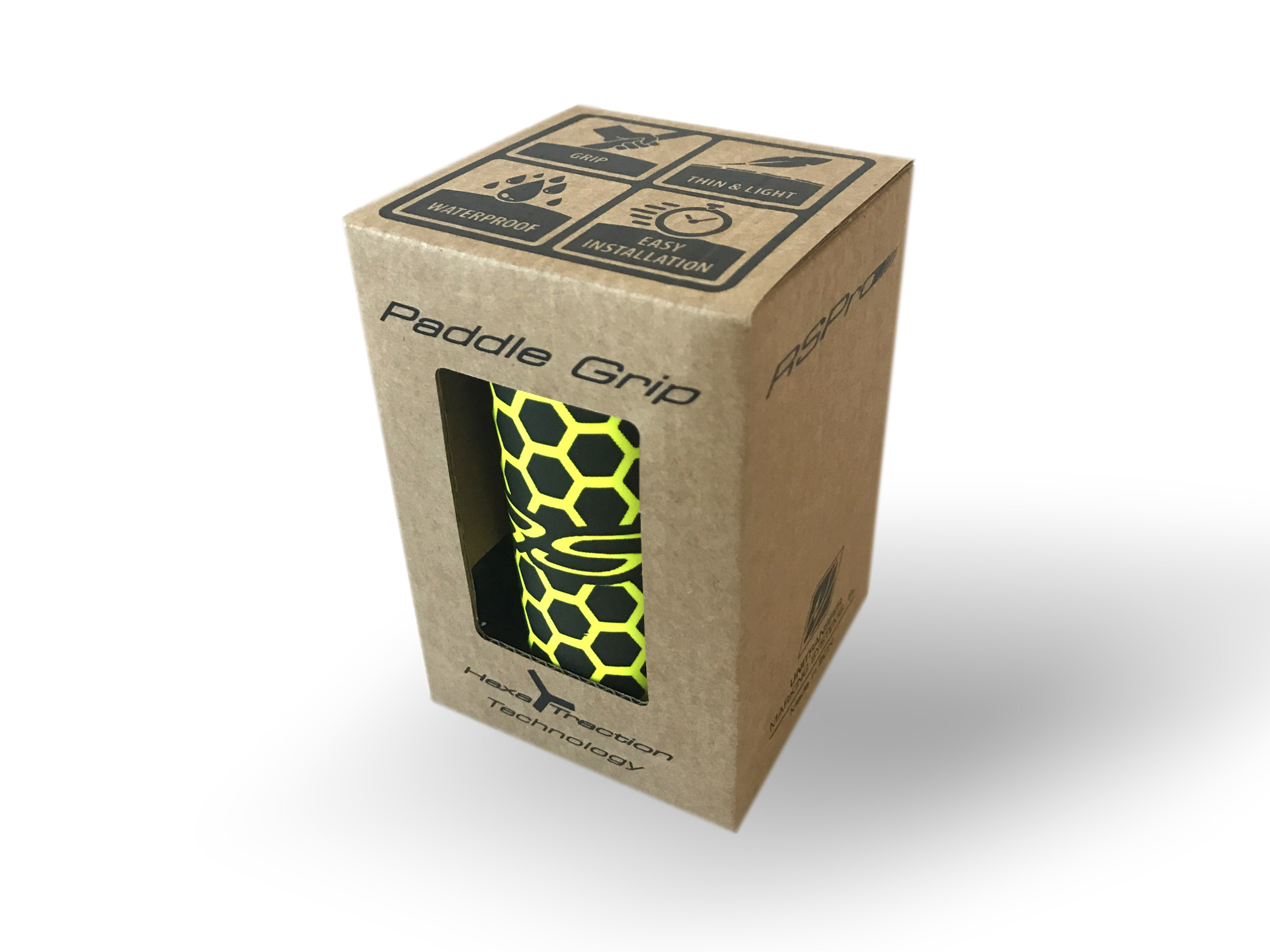Paddle Grip RSPro Hexa Yellow Fluor packaging xweb