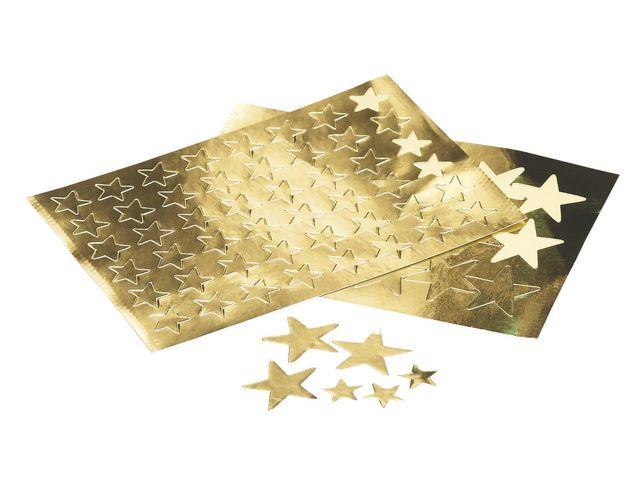etikett stjärn guld