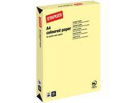 Kopieringspapper STAPLES A4 160g Ljusgul 250/FP