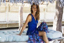 Sunshine wrap dress - Sunshine wrap dress blue S