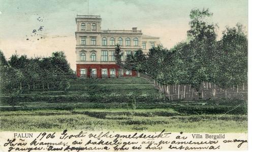 Vykort över Villa Bergalid taget 1906. copy: