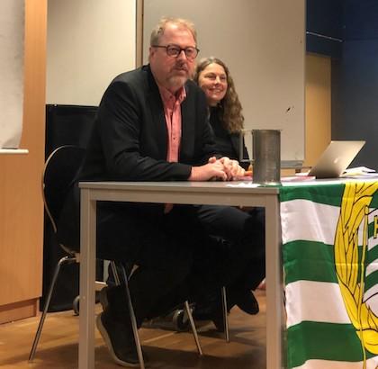 Vår nye ordförande Lars Morgan tillsammans med Ulrika Hellberg