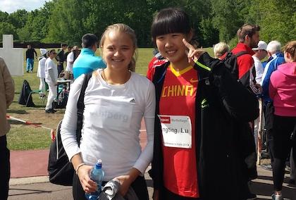 Grete tillsammans med 2:an Li Tingting från Kina.
