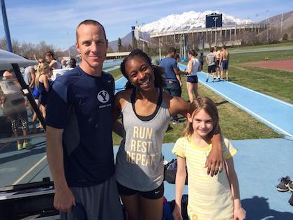 Min coach i USA, Grossharth, och hans dotter