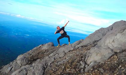 Bilden är tagen på 3200m höjd på Mount Agung, Bali, Indonesien.