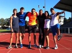 Det här är det härliga gänget som jag tränar med varje dag, från vänster: Love, Erik, Mehdi, Ritchie, jag och Michel.