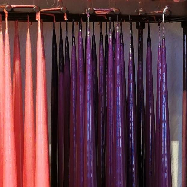 Lackade ljus 100% parafin färg lila Skattkistan