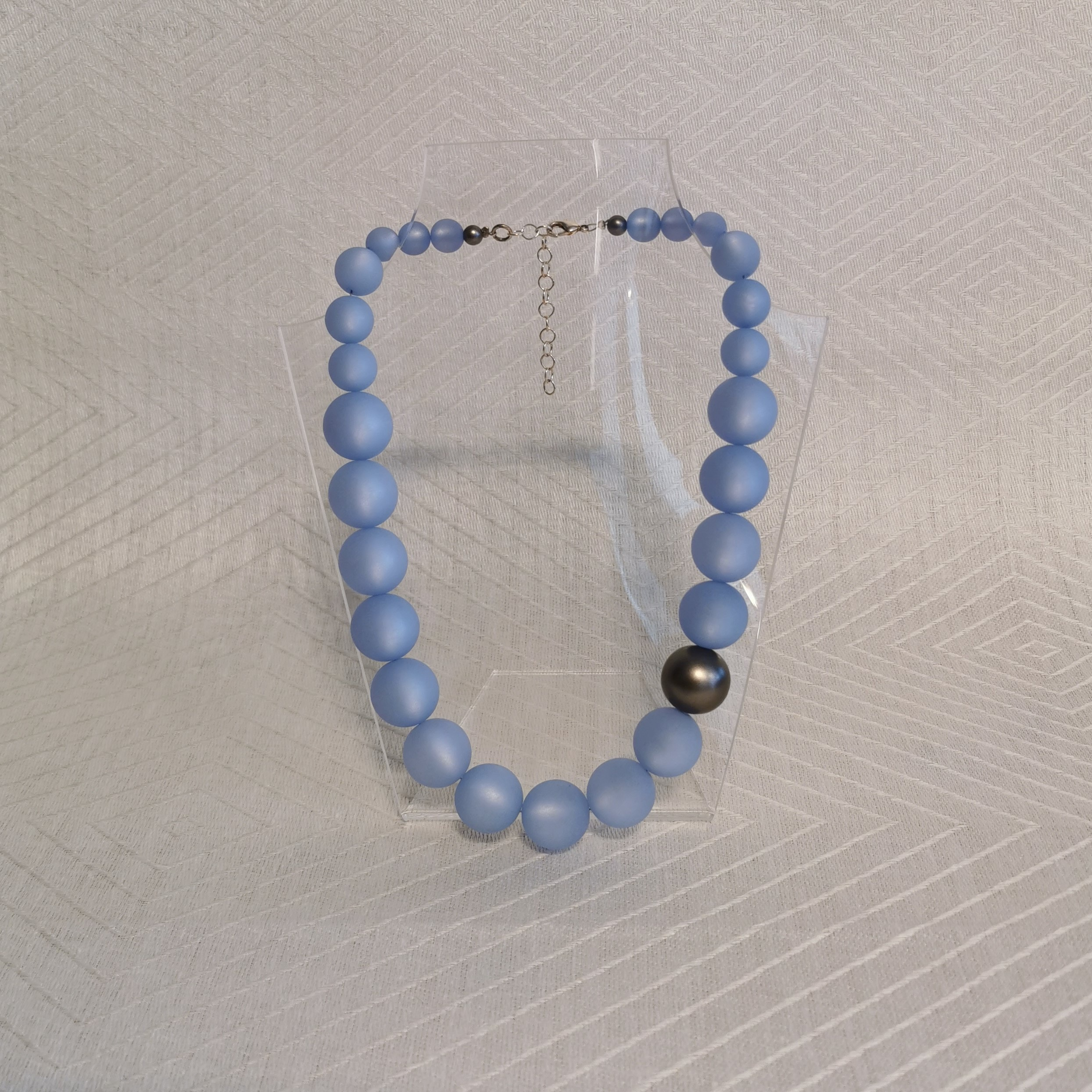 "Halsband ""Marie"" 45-50 cm - 14mm isblå"