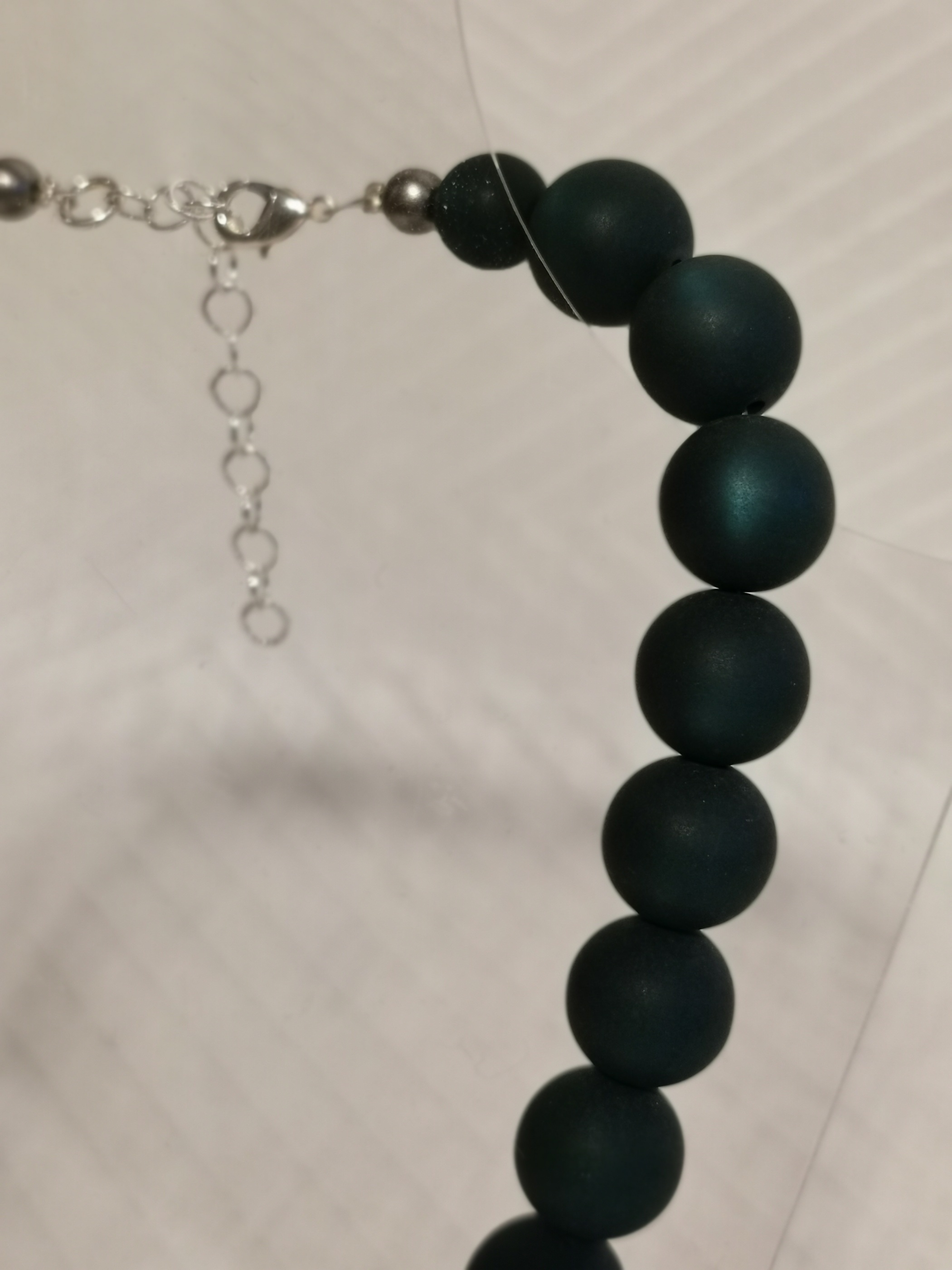 "Halsband ""Marie"" 45-50 cm - 14mm mörkgrön"