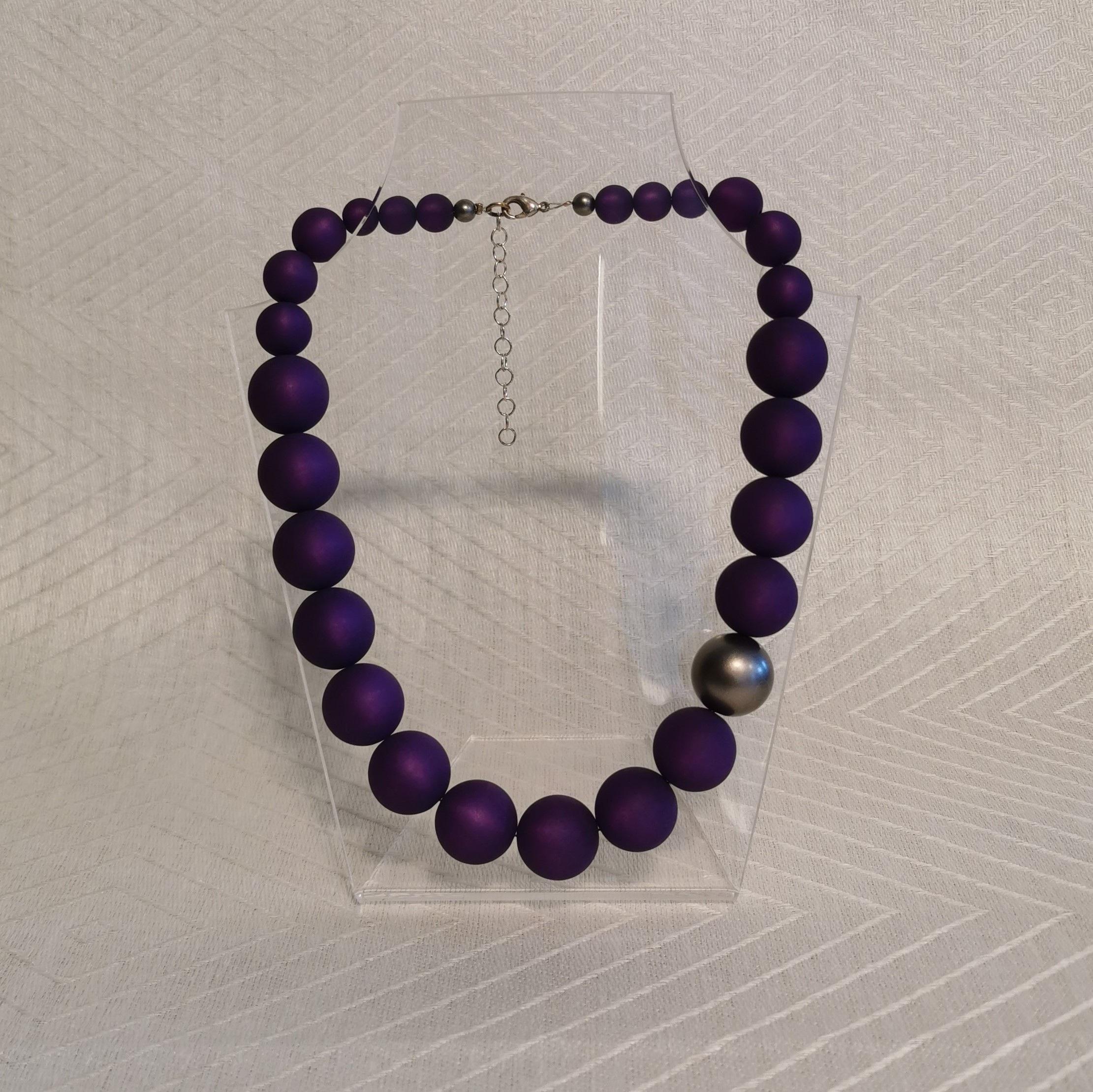 "Halsband ""Marie"" 47-53 cm - 20mm lila"