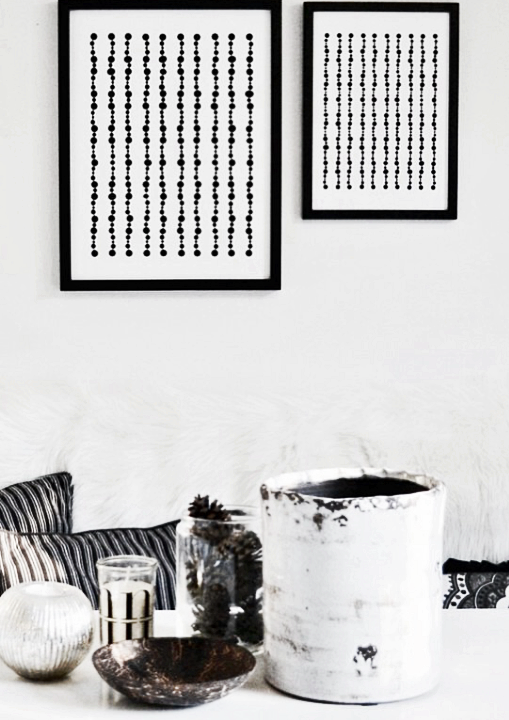 Pearls grafiskt print poster millandante.se