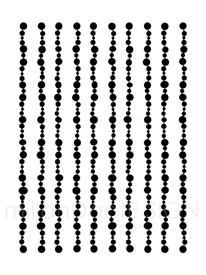 Pearls grafiskt print poster design millandante.se