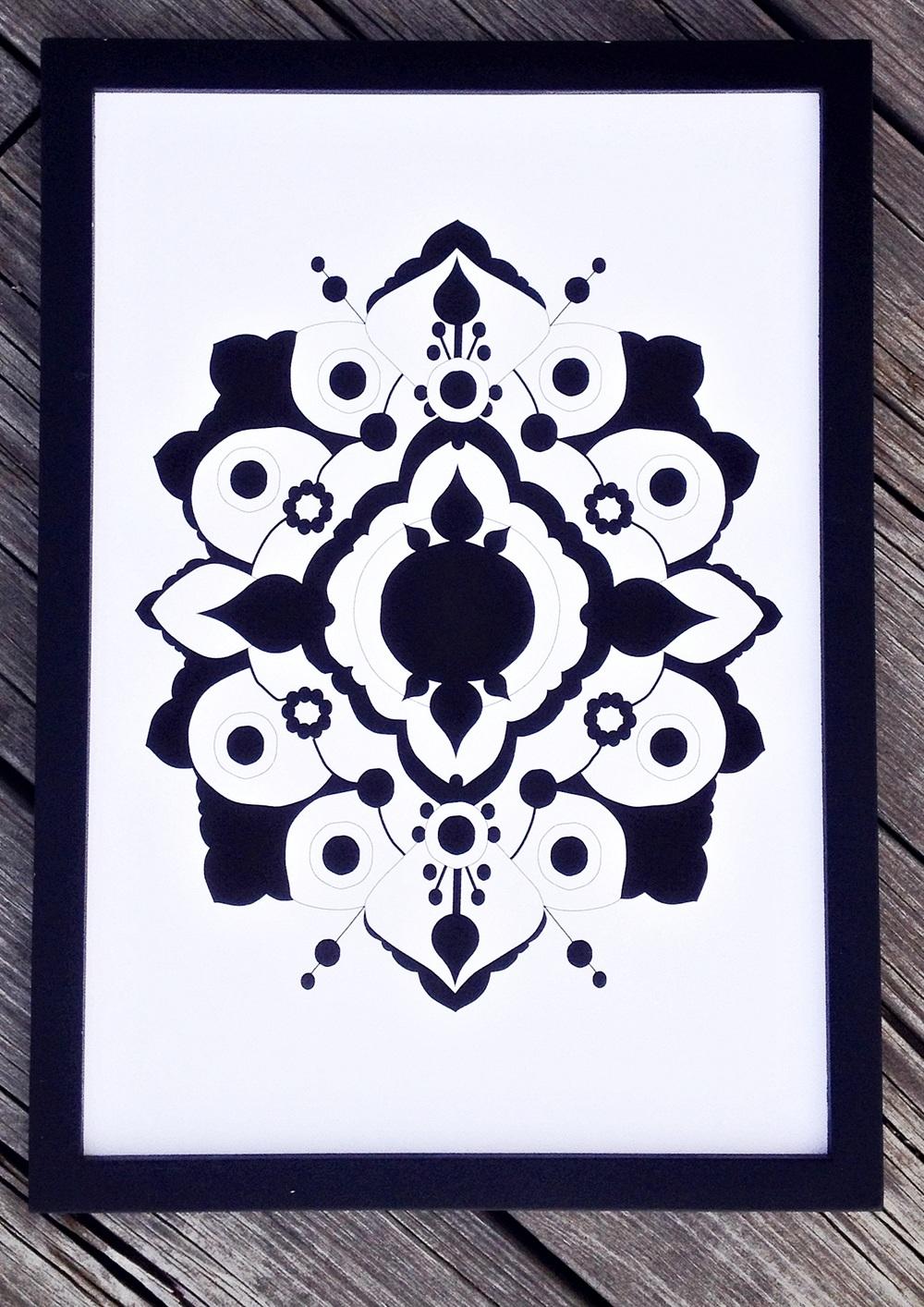Akantus grafiskt design print millandante.se